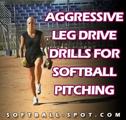 softball pitching leg drive drills