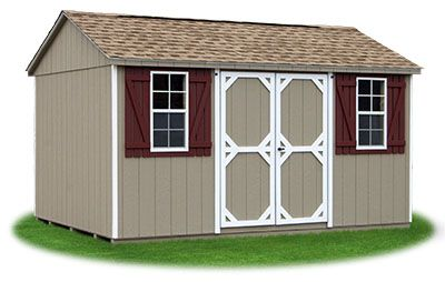 10x14 Vinyl Sided Side Entry Peak Storage Shed Available At Pine Creek Structures Shed Vinyl Siding Structures
