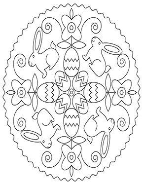 Ausmalbild Ostermandala Mit Hasen Zum Ausmalen Ausmalbilder Malvorlagen Ostern Osterhase Ostern Zum Ausmalen Mandala Ostern Ausmalbilder Ostern