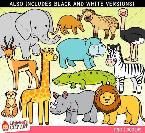 African Animal Clip Art African Animals Clip Art Animals