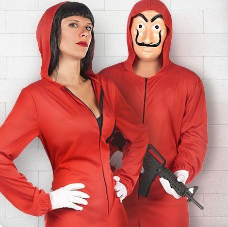 Costume Carnaval D/éguisement La CASA De Papel Avec Combinaison Voleur Rouge//Fusil//Salvador Dal/í Masque//Carnaval Costume Carnaval Enfant Adulte Femme Homme Unisexe