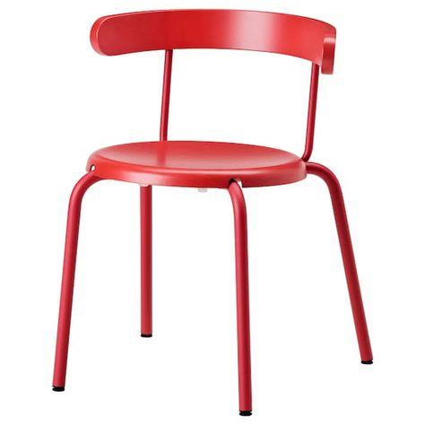 Porta Sedie Pieghevoli Ikea.Yngvar Sedia Rosso Idee Ikea Impiallacciatura Di Legno E