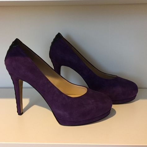 6713db86daee Shop Women s Nine West Purple Black size 10 Heels at a discounted price at  Poshmark. Description  Purple suede pumps