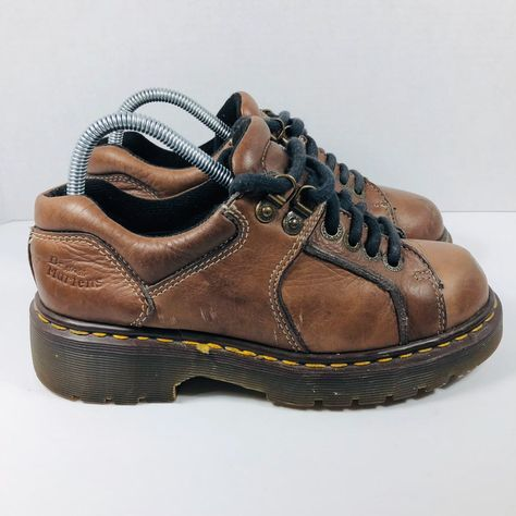 Dr Martens Vintage Leather Oxford on Mercari Aesthetic Shoes, Aesthetic Clothes, Dr. Martens, Sock Shoes, Shoe Boots, Funky Shoes, Unique Shoes, Japanese Street Fashion, Vintage Leather