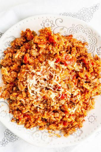 Spanish Rice With Ground Beef Recipe Yummly Recipe Spanish Rice Beef Recipes Ground Beef