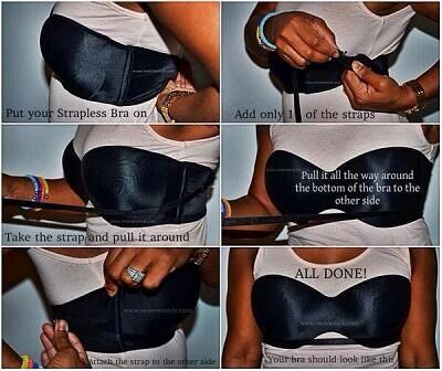 0c2aad533c How To Wear A Strapless Bra And It Stay In Place.