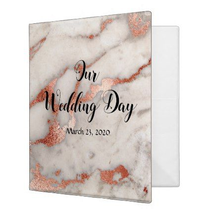 Marble Rose Gold Stone Rock Our Wedding Day Album Binder Zazzle Com Our Wedding Day Our Wedding Wedding Day