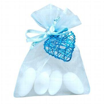 Gastgeschenk Hochzeit Juno Hellblau Turkis Bonboniere Mit Mandeln Gefullt Gastgeschenke Hochzeit Diy Hochzeitsgastgeschenke Und Gastgeschenke