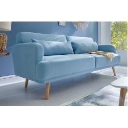 Elegantes 3 Sitzer Sofa Studio 210cm Aqua Inkl Kissen Mit Schlaffunktion Riess Ambiente In 2020 Sofa Stoff 3 Sitzer Sofa Und Sofa