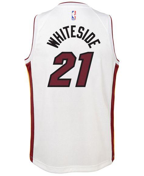 Nike Hassan Whiteside Miami Heat Association Swingman Jersey Big Boys 8 20 White Big Boys