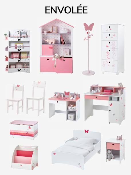 Commode Semainier Ligne Envolee Blanc Imprime Vertbaudet Rangement Chambre Enfant Chambre Bebe Papillon Et Decoration Maison