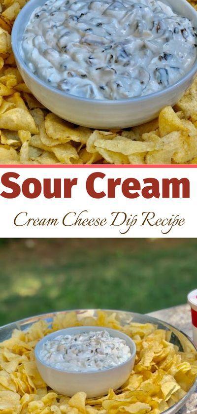 Delicious Sour Cream Cream Cheese Dip Recipe In 2020 Cream Cheese Recipes Dip Sour Cream Recipes Creamed Onions