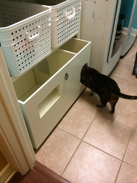 Pin By Cynthia Fontcuberta On Small Laundry Room Solution Litter Box Cat Urine Litter Box Covers