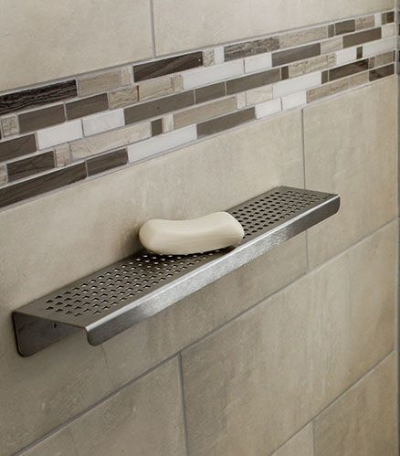 Royal Shower Shelf Stainless Steel - Traditional Square