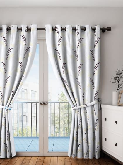 Premium Embroidery Single Door Curtain With Images Single