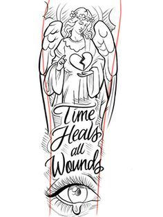 """50 pages of sketches and line drawings """"All angels"""" Chest Tattoo Stencils, Half Sleeve Tattoo Stencils, Half Sleeve Tattoos Drawings, Half Sleeve Tattoos For Guys, Half Sleeve Tattoos Designs, Tattoo Design Drawings, Tattoo Designs Men, Chest Tattoo Drawings, Tattoo Outline Drawing"""