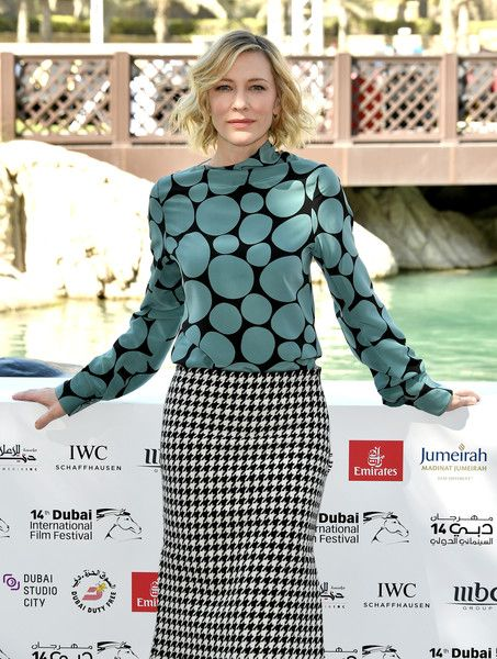 Cate Blanchett attends the IWC Photocall on day two of the 14th annual Dubai International Film Festival.