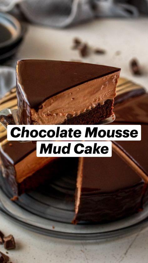 Chocolate Mousse Mud Cake