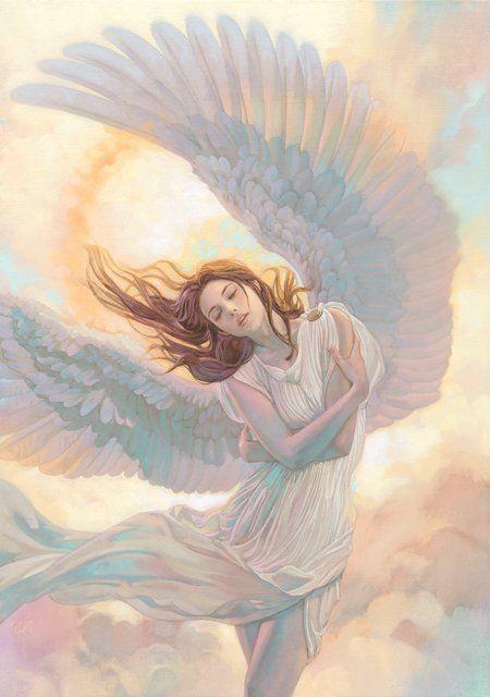 The Angelic Realm Angel Art Angel Painting Fantasy Art