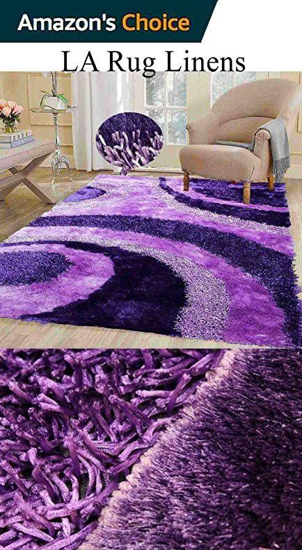 3d Dark Purple Light Purple Lavender Shaggy Shag Area Rug 8x10 Modern Art Deco Design High End Designer Quality Flokati High Pile Soft Iridescent Sheen Ultra Pl Shag Area Rug 8x10