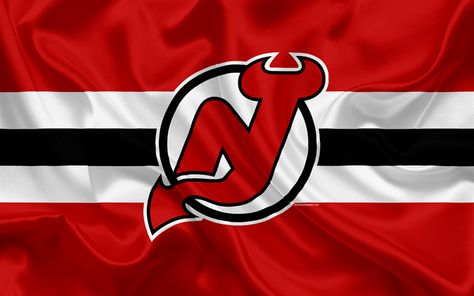 Download wallpapers New Jersey Devils, hockey club, NHL, emblem, logo, National Hockey League, hockey, New Jersey, USA