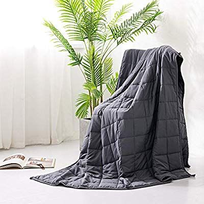 Syrinx Cooling Weighted Blankets 15lbs 60 X80 Dark Grey Queen