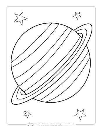 Saturn Gezegeni Boyama Sayfasi 2020 Elisi Kosesi Boyama Sayfalari Okul Oncesi