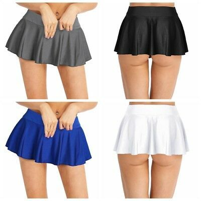 New Women School Girl Mini Pleated Flared Tennis Short Mini Skirts Sports Shorts