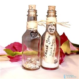 Message Bottle Favors for Thank You, Place Card or Table Decoration
