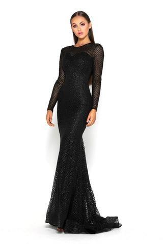 Black Evening Gowns Uk Formal Dresses Little Black Dresses Shaideboutiq Black Long Sleeve Evening Gown Evening Gowns With Sleeves Long Sleeve Evening Gowns