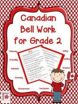 Canadian Bell Work for Grade 2 | Coach's Corner TpT Store | Bell ...