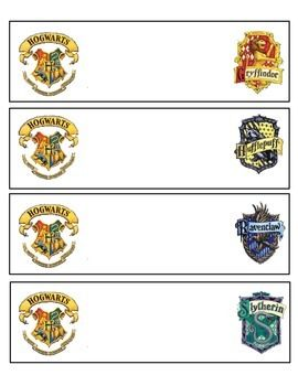 Print These Name Tags For Desks Cubbies And Supply Buckets It S A Great Way To Keep Track Harry Potter School Harry Potter Classroom Harry Potter Printables