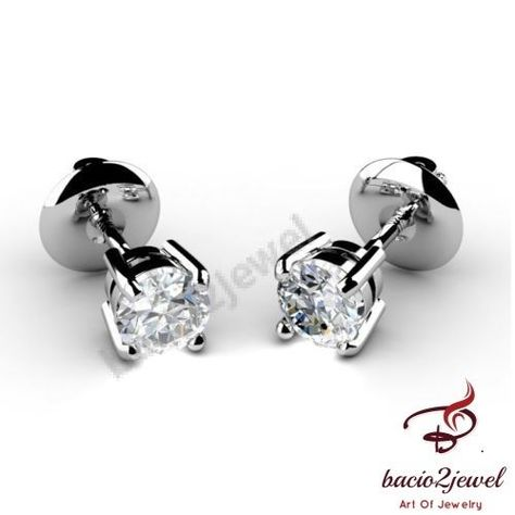 0.15 carat diamond circle stud earrings