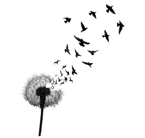 Like Tattoo: Dandelion blows to butterflies meaning