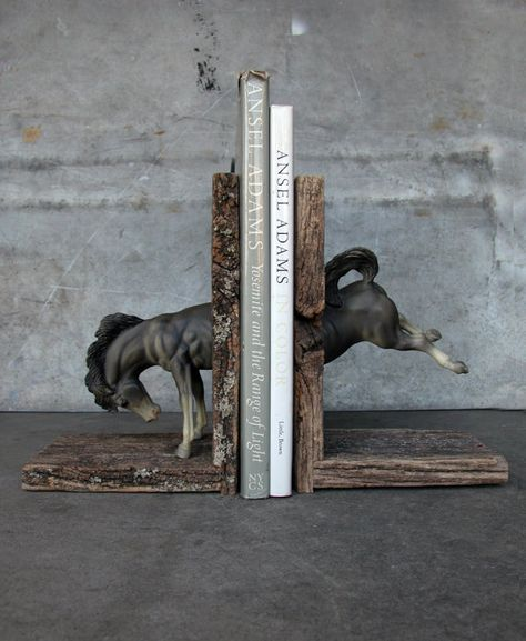 EQUINE COLLECTION bucking bronco bookend in grey