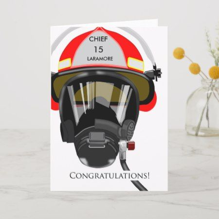Custom Congratulations On Promotion To Fire Chief Card Zazzle Com