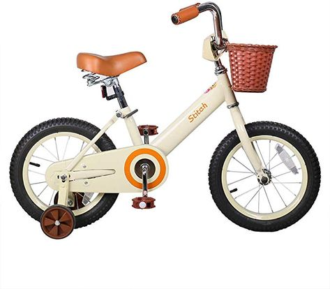 Amazon Com Joystar 14 16 Inch Kids Bike With Basket Training Wheels For 3 7 Years Old Girls Boys Ivor In 2020 Bike With Training Wheels Kids Bicycle Kids Bike