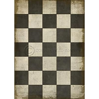 Vinyl Floorcloth Check Please Black Floor Cloth Vinyl Flooring Dot And Bo