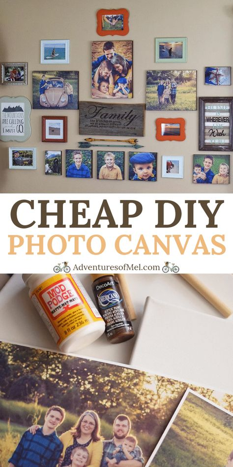 How to Make a Beautiful DIY Photo Canvas on the Cheap How to transfer family pictures and travel photographs to a DIY photo canvas, using Mod Podge and acrylic paint. Cheap, simple, and creative! Modge Podge Photo Transfer, Transfer Picture To Canvas, Photo Canvas, Diy Mod Podge, Mod Podge Crafts, Mod Podge Uses, Modge Podge Projects, Canvas Crafts, Diy Canvas