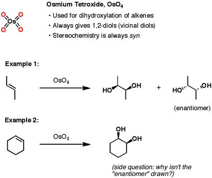 Reactions  Alkenes Osmium Interact Forming Syn Diols Oso Copy
