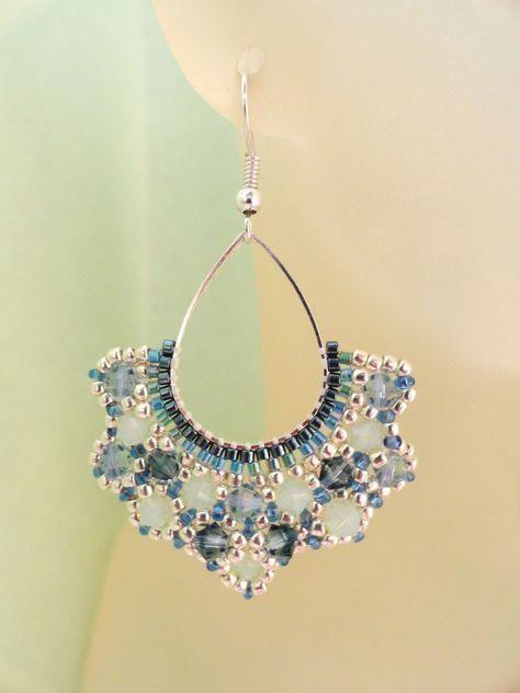 Beaded Earrings Tutorial Pinterest Beadedearrings Beaded