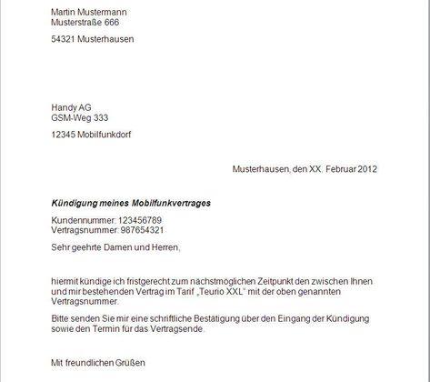 T Mobile Kundigung Vorlage Osterreich Kundigung Vertrag Mobilfunkvertrag