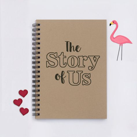 The Story of Us Our journals are versatile and can be used for many things: writing journals, travel journals, autograph books, notebooks, diaries, scrapbooks, sketchbooks, memory books, photos, things to do books, wedding ideas, proposals, engagements, love notes, long distance relationships, pet journals, graduation gifts, guest books, shower gifts, pregnancy and adoption diaries… just about anything! --Journals are handmade in 3-5 business days and measure 5 x 7. --Front cardstock covers ...