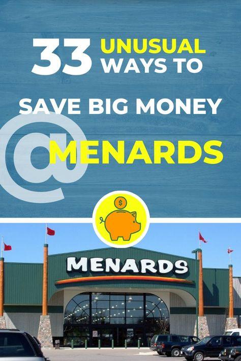 33 Unusual Ways to Save Big Money at Menards