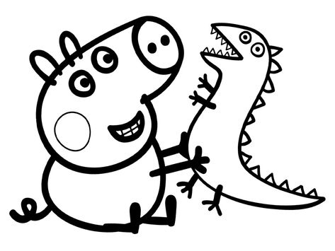 Dibujos Peppa Pig Para Colorear Dibujo De Peppa Pig Peppa Pig
