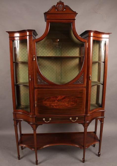 Good Late Victorian Mahogany Display Cabinet