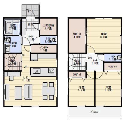 30坪のローコスト住宅の間取り図 ローコスト住宅 間取り 間取り