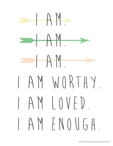 Instant Download I Am Quote I Am Worthy I Am Loved I Am