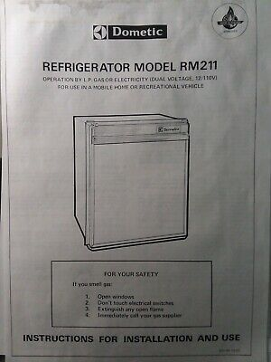 Dometic Refrigerator Rm211 Rv Marine Camping 12v 110v Lp Gas Installation Manual In 2020 Dometic Refrigerator Installation Manual Camping 12v