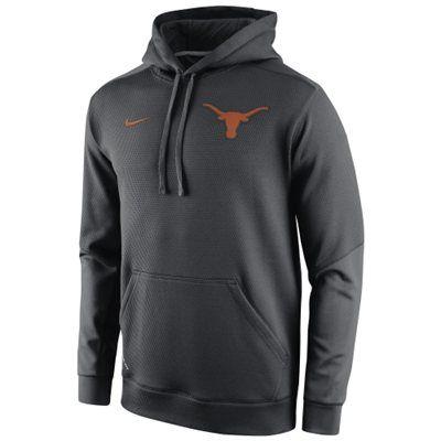 752e0f5627e8 Texas Longhorns Nike anthracite KO Chain fleece Therma-FIT hoodie  89.95
